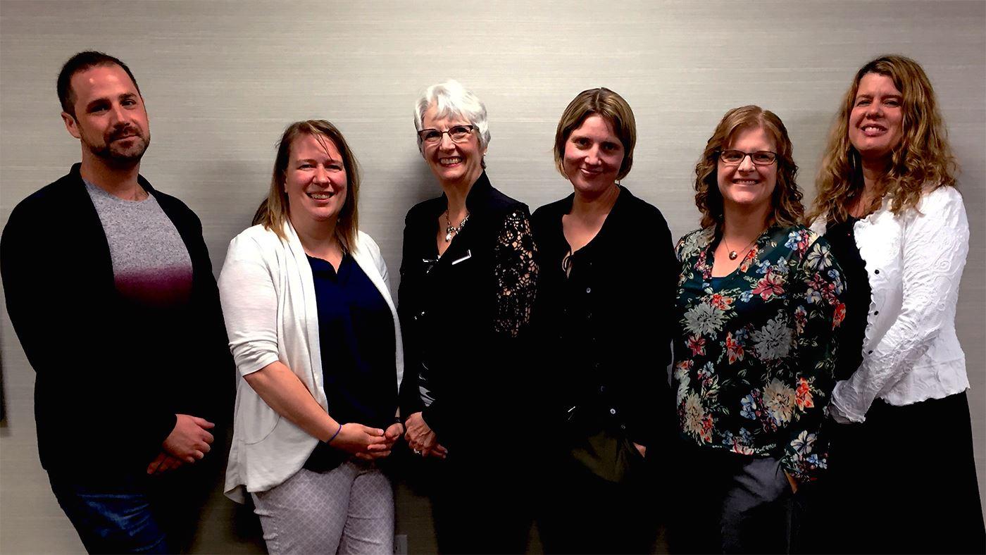 Left-to-right: Trevor Joyal (Calgary), Kirsty Neill (Calgary), Gay Robinson (Calgary), Megan Fitzgerald (Vancouver), Sarah Dechter (Flagstaff AZ), Lara Tierney (Calgary)